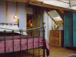 One of the bedrooms at Potash barns